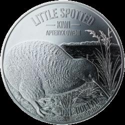Новая Зеландия монета 1 доллар Киви, реверс, серебро