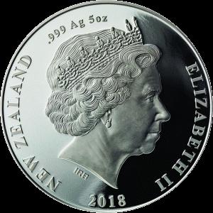 Новая Зеландия монета 10 доллар Киви, аверс, серебро
