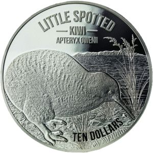 Новая Зеландия монета 10 доллар Киви, реверс, серебро