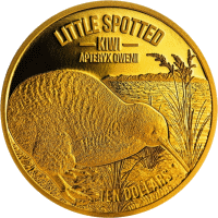 Новая Зеландия монета 10 доллар Киви, реверс, золото