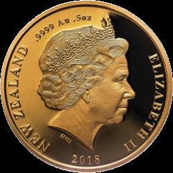 Новая Зеландия монета 10 долларов Мауи, аверс