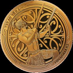 Новая Зеландия монета 10 долларов Мауи, реверс