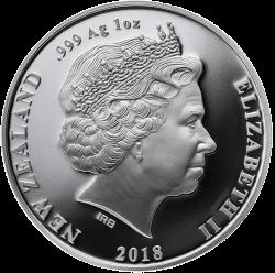 Новая Зеландия монета 5 долларов Мауи, аверс