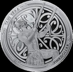 Новая Зеландия монета 5 долларов Мауи, реверс