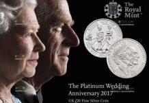 Royal Mint отчеканит серию монет к 70 летию бракосочетания королевы Елизавета II и принца Филипп