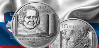 Словакии монета 10 евро Божена Сланчикова