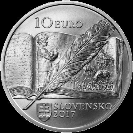 Словакии монета 10 евро Божена Сланчикова, серебро, аверс