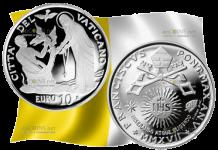 Ватикан монета 10 евро XXV Всемирный день больного