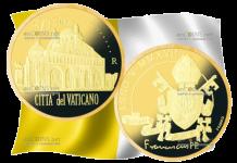 Ватикан монета 50 евро Папская Базилика Сан-Антонио-де-Падова, золото