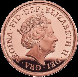 Англия монета соверен 2018, аверс
