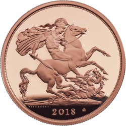 Англия монета соверен 2018, реверс