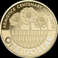 Австралия монета 1 доллар 100 лет окончания I-й мировой войны