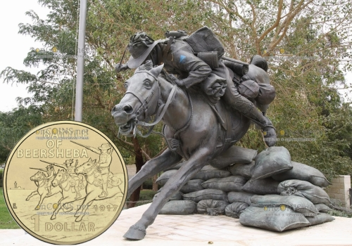 Австралия монета 1 доллар 100-летие битвы при Беэр-Шеве