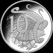 Австралия монета 10 центов 2018