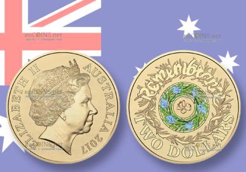 Австралия монета 2 доллара День памяти
