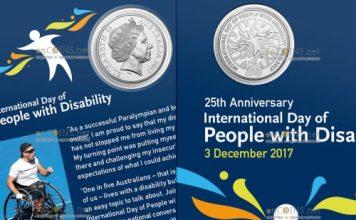 Австралия монета 20 центов Международный день людей с ограниченными возможностями
