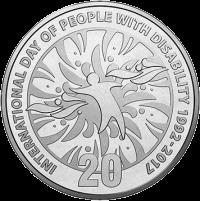 Австралия монета 20 центов Международный день людей с ограниченными возможностями, реверс