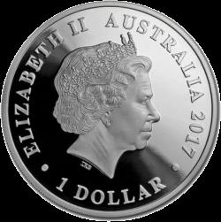 Австралия монета Лебедь 1 доллар, аверс