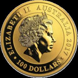 Австралия монета Лебедь 100 долларов, аверс
