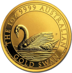 Австралия монета Лебедь 100 долларов, реверс