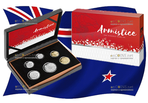 Австралия набор ходовых монет 2018 года - 100 лет окончания I-й мировой войны