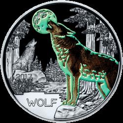 Австрии монета 3 евро Волк, реверс