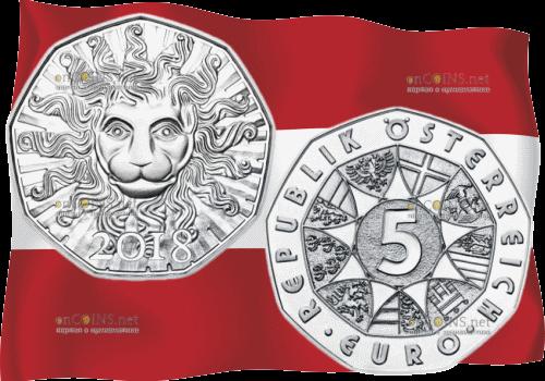 Австрия монета 2 евро 100 лет Австрийской Республики