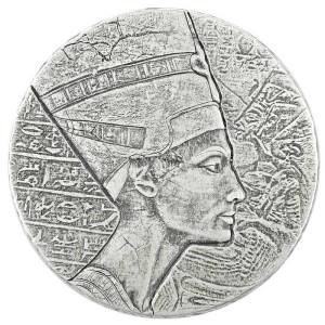 Чад монета 3000 франков КФА царица Нефертити, реверс