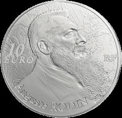 Франции выпустят монету 10 евро Огюст Роден, реверс