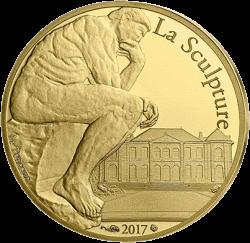 Франции выпустят монету 50 евро Огюст Роден, аверс