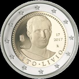 Италия монета 2 евро Тит Ливий, реверс