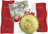 Канада монета 1 доллар Рождественские подарки 2017