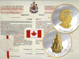 Канада монета 25 долларов Большая печать Канады
