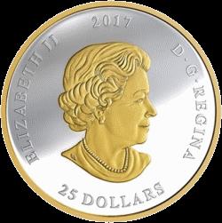 Канада монета 25 долларов Большая печать Канады, аверс