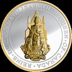 Канада монета 25 долларов Большая печать Канады, реверс