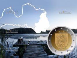 Латвия монета 2 евро Латгале