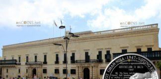Мальта монета 10 евро 70 лет Конституции Мальты