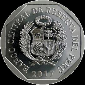 Перу монета 1 соль крокодил Тумбес, аверс