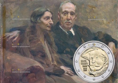 Португалия монета 2 евро 150 лет рождения Рауля Брандао