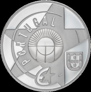Португалия монета 5 евро Стеклянные и железные века, аверс