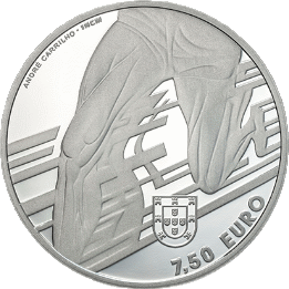 Португалия монета 7,5 евро Карлуш Лопиш, аверс