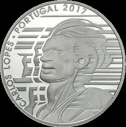 Португалия монета 7,5 евро Карлуш Лопиш, реверс