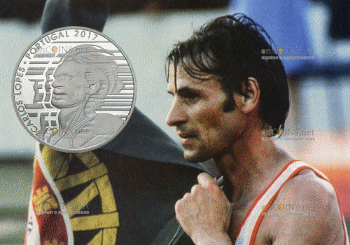 Португалия монета 7,5 евро Карлуш Лопиш