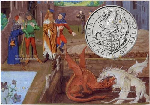 Англия монета Красный Дракон Уэльса