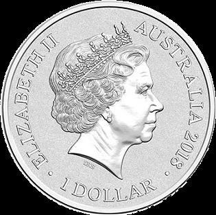 Австралия монета 1 доллар Новый Год 2018, аверс