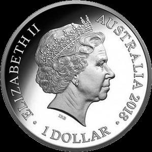 Австралия монета 1 долларов XXI Игры Содружества 2018, аверс