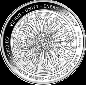 Австралия монета 1 долларов XXI Игры Содружества 2018, реверс