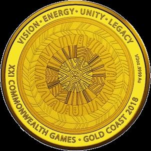 Австралия монета 50 долларов XXI Игры Содружества 2018, реверс