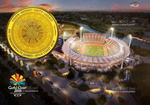 Австралия монета 50 долларов XXI Игры Содружества 2018