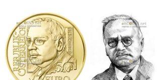 Австрии монета 50 евро Альфред Адлер